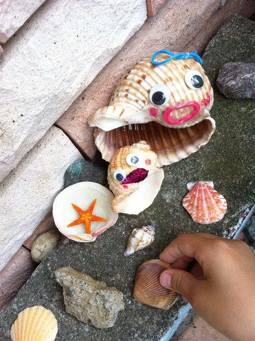 貝殻たちを変身させよう