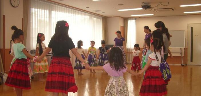 子どもフラダンスの1日体験に行ってきました